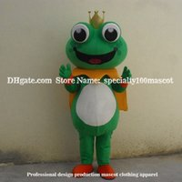 Wholesale Prince Mascot Costumes - Frog prince mascot costume adult size carnival High quality toad mascot free shipping,Real picture party mascot costume factory direct