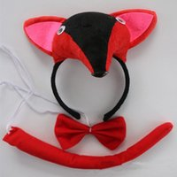 Bambini Animal 3D Fox Fascia Tie Tail Fancy Dress Accessori Costume Cosplay Halloween Party Supplies regalo