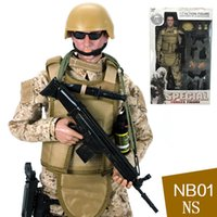 "Wholesale Action Games Boys - toy soldiers NEW! 1pcs 12"" 1 6 SWAT SDU SEALs Uniform Military Army Combat Game Toys Soldier Set with Retail Box Action Figure"