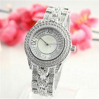 Wholesale Michael Watch Men - Luxury Imitation Conch Dial Ma'am Watches Man Women's Michael Quartz Rhinestones Diamond inlay Clock dial Fashion Watches Wholesale