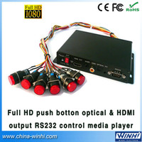 Wholesale Hd Shopping - Wholesale-Guaranteed 100% shopping Push Button Optical&HDMI output RS232 Control full hd media player USB SD Manufacturer Speedy Delivery