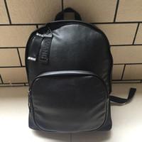 Wholesale Uk Backpack Bags - Europe US UK Tide WANG Backpack PU Leather Shoulder Bag Influx of People Men and Women School bags 2018