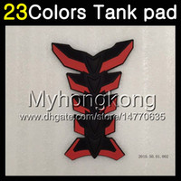 Wholesale Honda Fiber - 23Colors 3D Carbon Fiber Gas Tank Pad Protector For HONDA ST1300 2002 2003 2004 2005 2006 2007 2008 2010 ST 1300 STX1300 3D Tank Cap Sticker