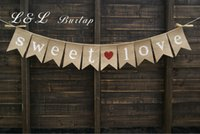 Compra Foto Caramelle-All'ingrosso-dolce amore Burlap Bunting, banner di amore dolce, decorazione di nozze, foto prop, candy buffet pancia, Lolly Buffet Bunting
