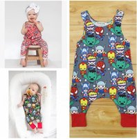 Bébé Superhero Vêtements Pas Cher-Cotton Cartoon Superhero Nouveau-né sans manches Romper Baby Girl Boy Vêtement Bodysuit Jumpsuit Playsuit Mignon Habits en forme de coeur 539