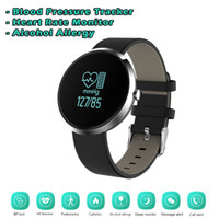 sports alcohol - Luxury Bluetooth Smart Bracelet S10 Blood Pressure Alcohol Allergy Heart Rate Monitor Sports Calorie Counter Fitness Tracker for Android iOS