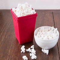 Wholesale Cup Pop - BPA Free Silicone Microwave Popcorn Maker - Makes 8 Cups of Air-Popped Popcorn - No Oil Needed - 2 Quart Capacity