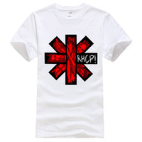 Wholesale Red Hot Chili Peppers - 2017 Original Red Hot Chili Peppers White Circle Asterisk Adult Short Sleeve White S M L XL XXL XXXL Adult Free Shipping Tshirt