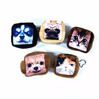 Atacado- M108 Cute Cartoon Square Meow Star Plush Bead Chain Purse Dog Cat 3D HD Star Wang Wallet Girl Mulheres Student Gift Wholesale