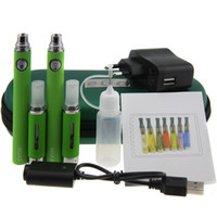 Wholesale Ecigarette Double Kit - Evod MT3 Double starter Kit Electronic Cigarette Kits MT3 Atomizer 650mah 900mah 1100mah evod Battery VS ego ce4 ecigarette kits