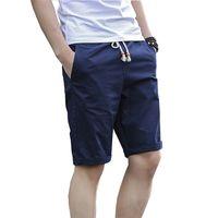 Wholesale Mens Beach Shorts Wholesale - Wholesale- 2017 Summer Beach Shorts Mens Solid Casual Slim Shorts Male (Asian Size)