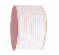 Wholesale White Braided String Bracelet - 4mm White Dragon Squama Braid Nylon Cord Thread+18m roll DIY Jewelry Accessories Macrame Rope Bracelet Necklace Wire String