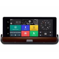 Wholesale Gps Dashcam - Full HD 1080P 7 Inch IPS 3G Wifi Android 5.0 Car GPS Navigation 1GB RAM 16GB Bluetooth Dual Lens DVR Dashcam