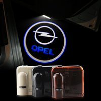 Wholesale Led Lights Antara - 2X Car Door Lights LOGO Ghost Shadow for Opel Insignia ANTARA LED Welcome Lamps Universal Wireless 3D HD Warming