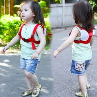 Wholesale Safety Harness Backpacks - Anti-lost Harness Leash Backpack For Children Angel Design Toddler Walking Assistant Strap Rein Baby Safety Kids Keeper, 4 Color