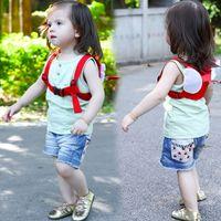 ingrosso bambino guinzaglio zaino-Anti-perso Harness Leash Zaino per bambini Angel Design Toddler Walking Assistant Strap Rein Baby Safety Kids Keeper, 4 colori