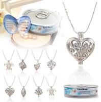 Modeschmuck-Halsketten & -Anhänger Damen Halskette Perlen Anhänger Tropfen Helix Liebe Wunsch Modeschmuck Oyster Modeschmuckstücke