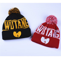 Wholesale character knit hats - WuTang Beanies New Fashion Winter WU TANG CLAN For Women Men Hiphop Knitted Hats Wool Caps