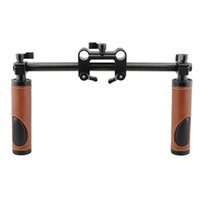 CAMVATE Handle Grips (Leather) Kit de suporte do guidão para a câmera DSLR Camcorder Shoulder Rig