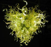 Wholesale Chandeliers Colored Crystals - Kitchen Chihuly Inspired Chandelier New Arrival Murano Glass Heart Shape Green Colored Crystal Modern Light Fixture