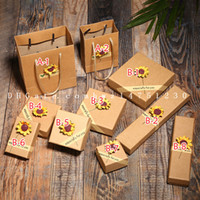 Wholesale Dhl Free Shipping Bracelet - 2017 new sunflower jewelry, necklace box universal paper, ring, bracelet box spot wholesale DHL free shipping