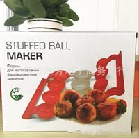 machines d'abs achat en gros de-Boule de poissons Maker Nouveau Populaire Meatball farcie de machines de traitement pratique pratique outil de cuisine ABS Matériel Hot Vente 5 5TF R