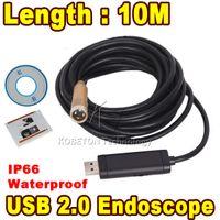 Wholesale Endoscope Ip66 Waterproof - Wholesale-10m IP66 Waterproof Mini USB Endoscope Inspection Camera 4 LED 14mm Lens Mini Borescope Snake Tube Camera Endoscopio