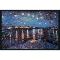 Wholesale Artwork Reproductions - Interior design auction art pop fine modern fine artwork reproduction of masterpieces Starlight Over the Rhone by Vincent Van Gogh