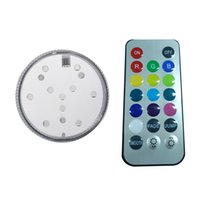 Vente en gros - Meilleur prix 4PCS 9 LED Remote Controller Waterproof Submersible Battery Power Lights Lampe lumineuse colorée RGB pour Night Fish Tank