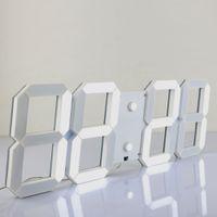 Wholesale Led Digital Wall Clocks - Modern Design 3D Jumbo Digital LED Wall Clock with Remote Control for Indoor Outdoor Countdown Temperature Calendar Alarm