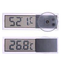 régulateur de température bleu achat en gros de-Nouvelle voiture thermomètre Osculum Type LCD Thermomètre numérique monté sur véhicule Celsius Fahrenheit pour voiture Thermomètre numérique Celsius