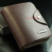 Wholesale Soft Zip Wallet - Hot Sale Men's Real PU Soft Leather Buckle Zip Bifold Wallet Cards Purse Clutch