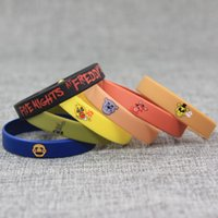 Wholesale Best Variety - Bracelet Five Nights At Freddys Wrist Strap Silicone Bracelets Funny Decorations Variety Of Mult Color Best Gift For Kid Props 7 5sb H1