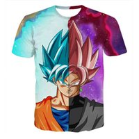 Wholesale Dragonball Vegeta - Dragon Ball Z Mens Summer T-shirts 3D Print Super Saiyan Son Goku Black Zamasu Vegeta Dragonball Casual T Shirt Tops Tee