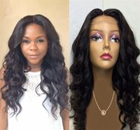 Wholesale Virgin Hot Full - Hot Selling Wet Wavy Brazilian Virgin Hair 100 Human Hair t Wigs For African Americans With Baby Hair Free Ship