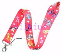 Wholesale Rainbow Pony - New Lot 30Pcs Cartoon Rainbow Pony Fashion Lanyards Straps For ID Badge Mobile Phone Free Shipping