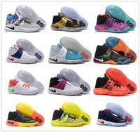 Wholesale Cheap Soccer Balls - New 2017 Kyrie Irving Shoes Mens Basketball Shoes Kyrie 2 II Bright Crimson Tie Dye BHM Basket Ball Olympic Men Shoes Sneakers For Cheap
