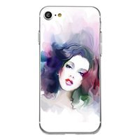 Wholesale Transparent Coloured Iphone Cases - Shaka Laka Coloured drawing Phone Shell Clear Soft TPU fashion beauty Case For iPhone 6 6S 5.0in 6Plus 7 7plus 8 8s plus silicone back Cover