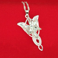 Wholesale Twilight Wholesale - Hobbit Lord of the Rings Wizard Princess Evening Star Necklace crystal Twilight Star Pendants necklace movie jewelry Drop Ship 160512