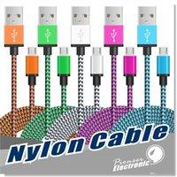 Wholesale smart charger for android - Micro USB Charger Cord Cable Nylon Braided Charging Type C Cable For all Android Smart phone Samsung S4 S6 S7 edge HTC Sony
