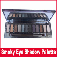 Wholesale High Palette - High Quality NUDE Smoky Eyeshadow Palette Makeup Newest 12 Colors Makeup Cosmetic Shimmer Matte Eye Shadow With Brush