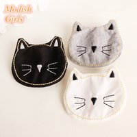 15pcs / Lot Cat Head Design Cartoon Forma animale Clip di capelli piccole Accessorio Bestseller Morbido feltro Cartoon Forcine Bambini adorabili
