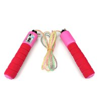 Wholesale Jumping Rope Handles - 2.4mtr Digital Skipping Jump Rope with Counter Timer Sponge Handle for Fitness Best Gifts for kids Childrens