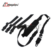 Wholesale Elastic Gun - Magaipu 2017 New gun sling Outdoor Camping Survival Sling Amazon Hot Sale New Two Point Tactical Elastic Gun Sling Strap With Shoulder Pad
