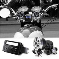 mini guiador venda por atacado-À prova d 'água FM Motocicleta Guiador Sistema de Áudio Mini Rádio MP3 Speaker Amplificador de Som