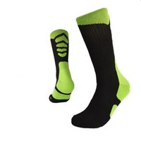 Wholesale Wholesale Womens Thermals - Womens Mens Unisex brand new USA professional elite compression thermal Thick long knee high Cotton Socks sport outdoor bottom terry socks