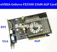 Wholesale Graphics Cards Agp - High Quality China Wholesale Brand NEW Geforce FX5500 256M AGP DVI  VGA  TVO Video Graphic Card FX 5500 AGP video card