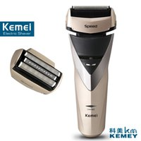 Female blade body wash - Kemei factory direct beauty body wash twin blade cutter head men face care Shaver razor electric rechargeable shaveing for man