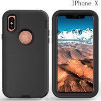 Wholesale impact armor - Heavy Duty Rugged Armor Defender Series Cases Hybrid High Impact Back Cover for Iphone S plus Iphone X Samsung Galaxy S6 S7 S8 NOTE8