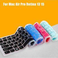 ingrosso macchia della tastiera della retina del macbook-US Layout Alfabeto inglese Cover per tastiera in silicone per MacBook Air 13 Pro 15 13 Retina Laptop Notebook Protector Sticker Skin
